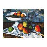 Cezanne - Compotier, vidrio y manzanas Lona Estirada Galerías