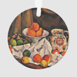 Cezanne - cuenco, jarra y fruta de fruta