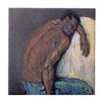 Cezanne - el negro Scipio Azulejo Cuadrado Pequeño