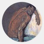Cezanne - el negro Scipio Pegatina Redonda