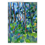 Cezanne - en las maderas -1898 tarjeta de felicitación