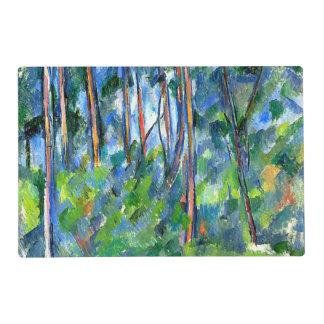 Cezanne - en las maderas tapete individual