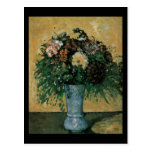 Cezanne Flowers in a Blue Vase Postcards
