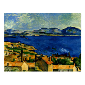 Cezanne - golfo de Marsella visto de L'Estaque Tarjetas Postales