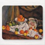 Cezanne: Ilustraciones del cuenco de fruta, de la  Tapete De Ratones