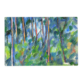 Cezanne - In the Woods Laminated Placemat