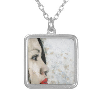 Cezanne Inspired Filipino Girl Silver Plated Necklace