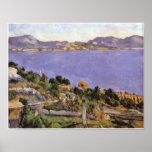 Cezanne - L Estaque vue du golfe de Marsella 1878 Poster