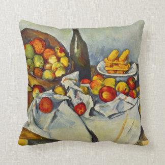 Cezanne la cesta de almohada de las manzanas