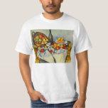 Cezanne la cesta de camiseta de las manzanas playeras