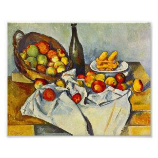 Cezanne la cesta de impresión de las manzanas cojinete