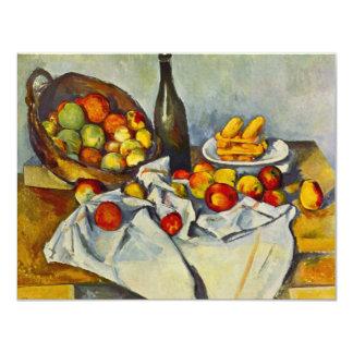 """Cezanne la cesta de invitaciones de las manzanas invitación 4.25"""" x 5.5"""""""