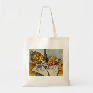 Cezanne la cesta de la bolsa de asas de las manzan