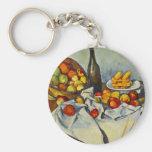 Cezanne la cesta de llavero de las manzanas