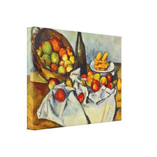 Cezanne la cesta de manzanas impresión en lienzo