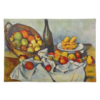 Cezanne la cesta de manzanas Placemat Mantel