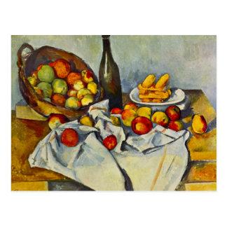 Cezanne la cesta de postal de las manzanas