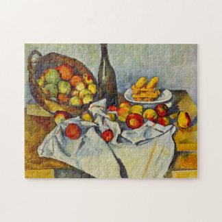 Cezanne la cesta de rompecabezas de las manzanas