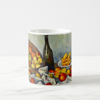 Cezanne la cesta de taza de las manzanas