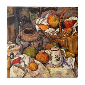 Cezanne - la tabla de cocina azulejo cuadrado pequeño