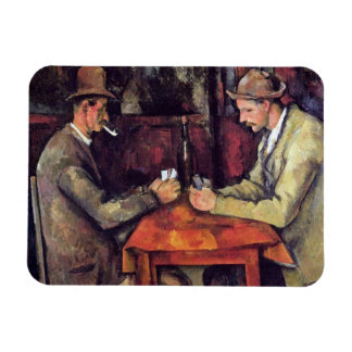 Cezanne - los jugadores de tarjeta imán flexible
