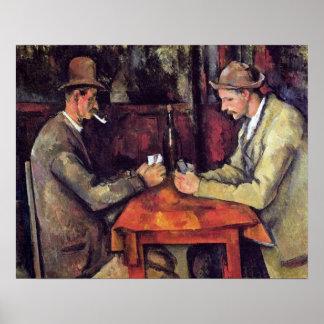 Cezanne - los jugadores de tarjeta póster