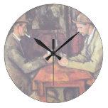 Cezanne - los jugadores de tarjeta relojes de pared