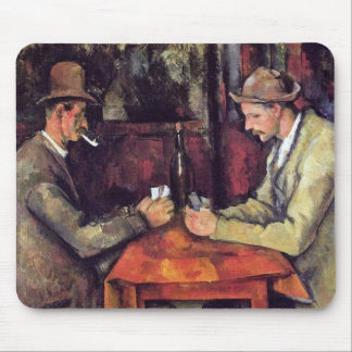Cezanne - los jugadores de tarjeta tapetes de raton