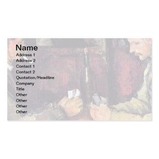 Cezanne - los jugadores de tarjeta tarjetas de visita