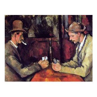 Cezanne - los jugadores de tarjeta tarjetas postales