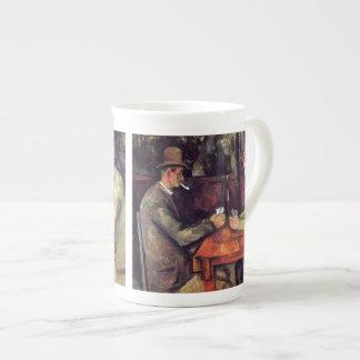 Cezanne - los jugadores de tarjeta taza de porcelana