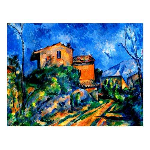 Cezanne _ Maison Maria with a View of Chateau Noir Postcard