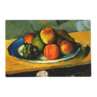 Cezanne - melocotones, peras y uvas tapete individual