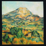 "Cezanne Mont Sainte-Victoire Napkins<br><div class=""desc"">Cezanne Mont Sainte-Victoire napkins. Oil painting on canvas from 1895. Paul Cezanne painted Mont Saint-Victoire in Aix-en-Provence multiple times throughout his career. This rendition was completed towards the end of the artist's life and captures Cezanne's deep love of the southern French landscape and his masterful sense of color. A pretty...</div>"