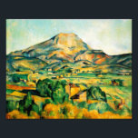 "Cezanne Mont Sainte-Victoire Print<br><div class=""desc"">Cezanne Mont Sainte-Victoire print. Oil painting on canvas from 1895. Paul Cezanne painted Mont Saint-Victoire in Aix-en-Provence multiple times throughout his career. This rendition was completed towards the end of the artist's life and captures Cezanne's deep love of the southern French landscape and his masterful sense of color. A pretty...</div>"