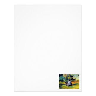 Cezanne painter at work post impressionist art letterhead