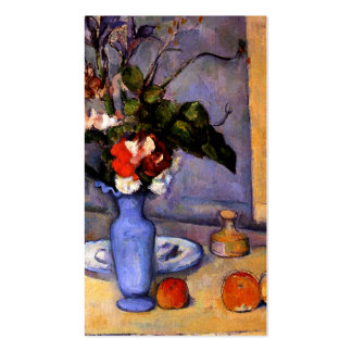 Cezanne painting Still Life With Blue Vase art Double-Sided Standard Business Cards (Pack Of 100)