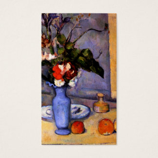 Cezanne painting Still Life With Blue Vase art Business Card