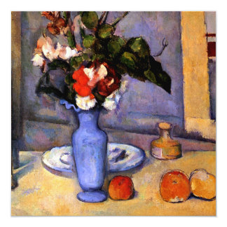 Cezanne painting Still Life With Blue Vase art Card