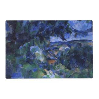 Cezanne - paisaje azul salvamanteles