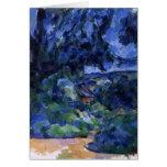 Cezanne - paisaje azul tarjeta pequeña