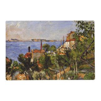 Cezanne - paisaje, estudio después de la tapete individual