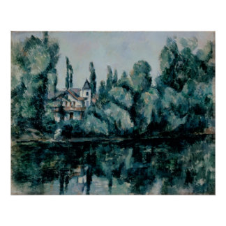 Cezanne, Paul - The Banks of the Marne (Villa on t Poster