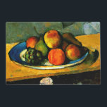 """Cezanne - Peaches, Pears and Grapes Placemat<br><div class=""""desc"""">Paul Cezanne still life painting,  Peaches,  Pears and Grapes,  laminated place mat.</div>"""