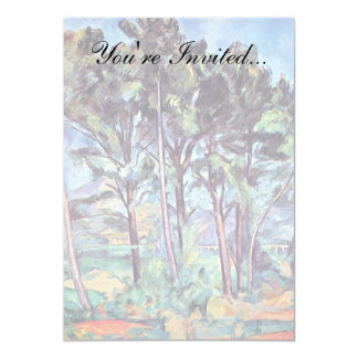 Cezanne - Pines And Aqueduct 5x7 Paper Invitation Card