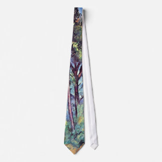 Cezanne - Pines And Aqueduct Neck Tie