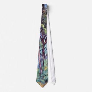 Cezanne - pinos y acueducto corbata