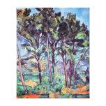 Cezanne - pinos y acueducto lona estirada galerias
