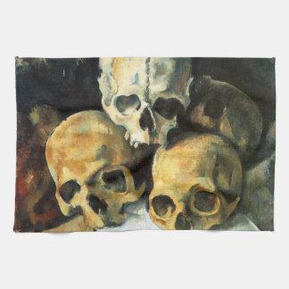 Cezanne Pyramid of Skulls Kitchen Towel