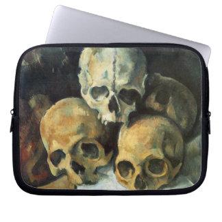 Cezanne - Pyramid of Skulls Laptop Sleeves